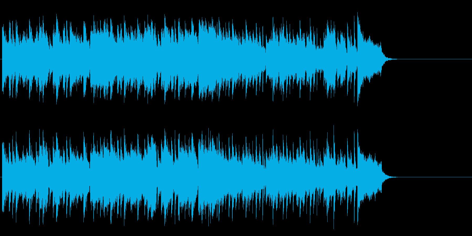心安まるミディアムポップ(サビ~エンド)の再生済みの波形