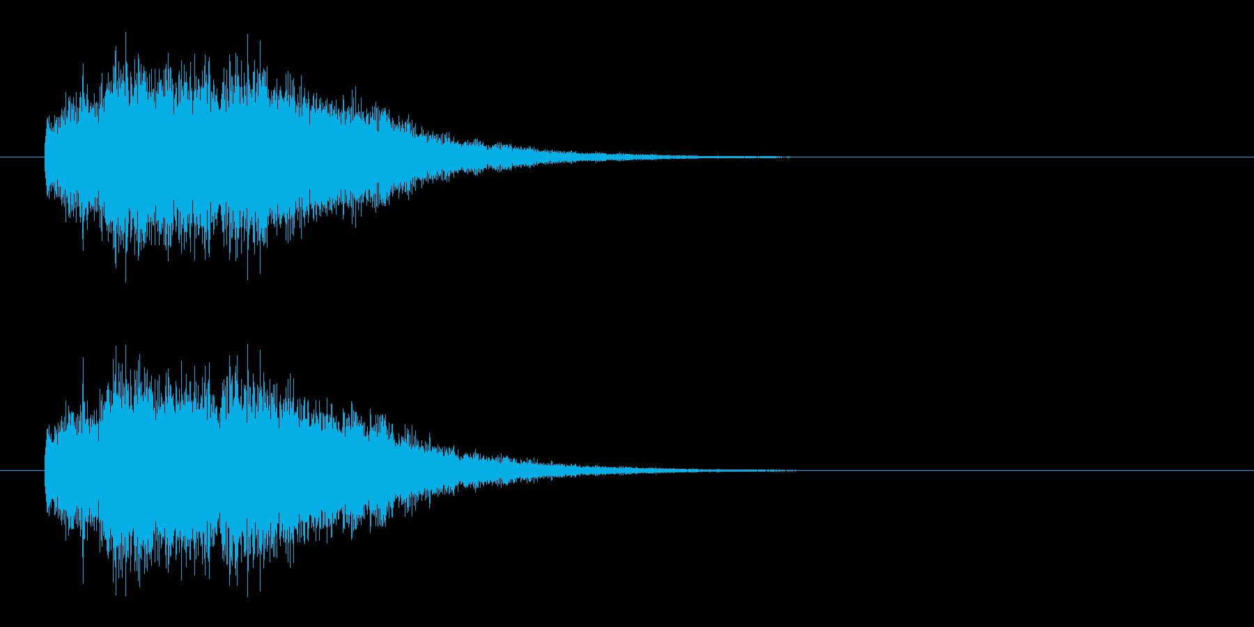 煌びやかな魔法効果の再生済みの波形