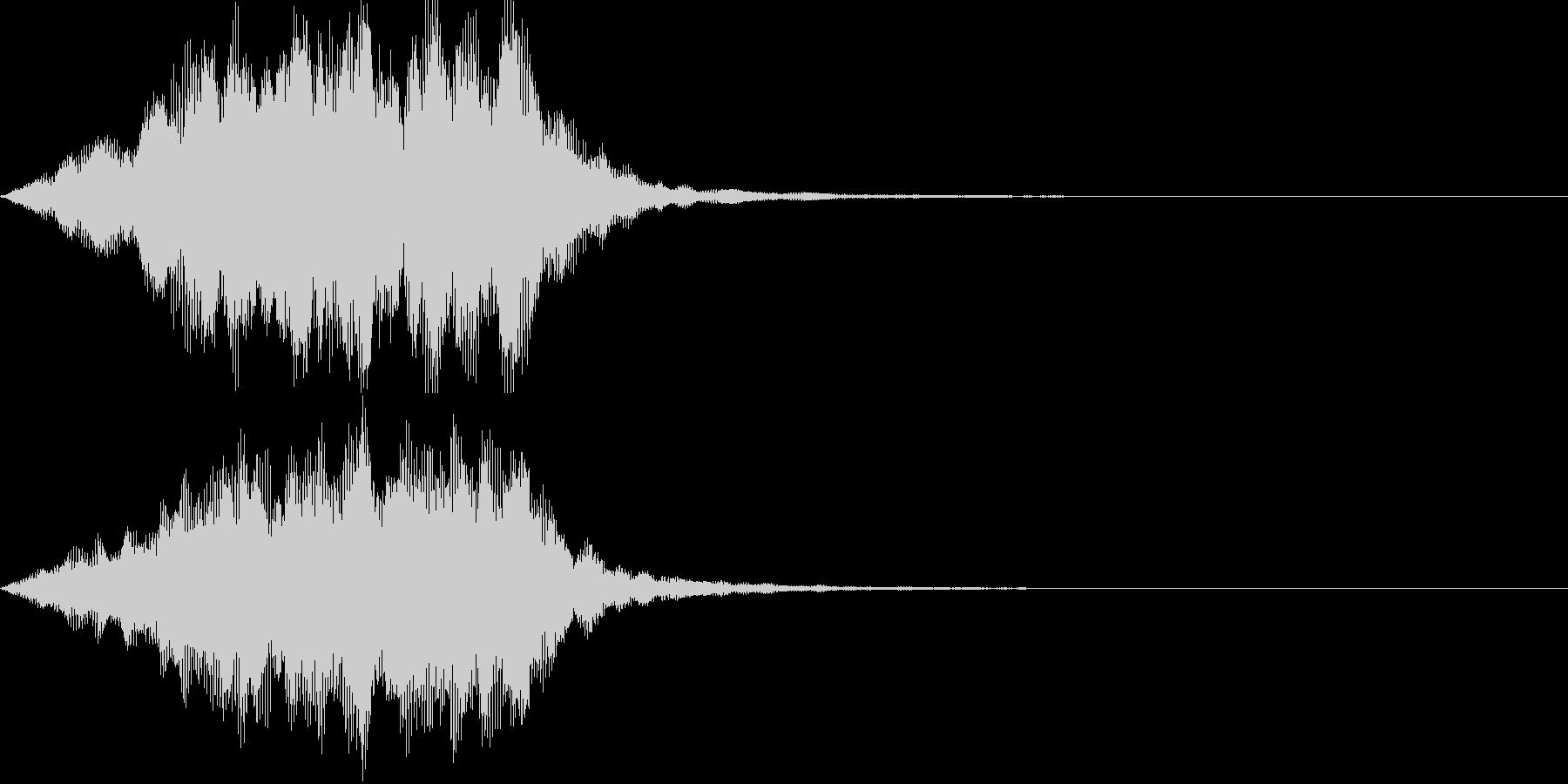 魔法(ヒール)01の未再生の波形