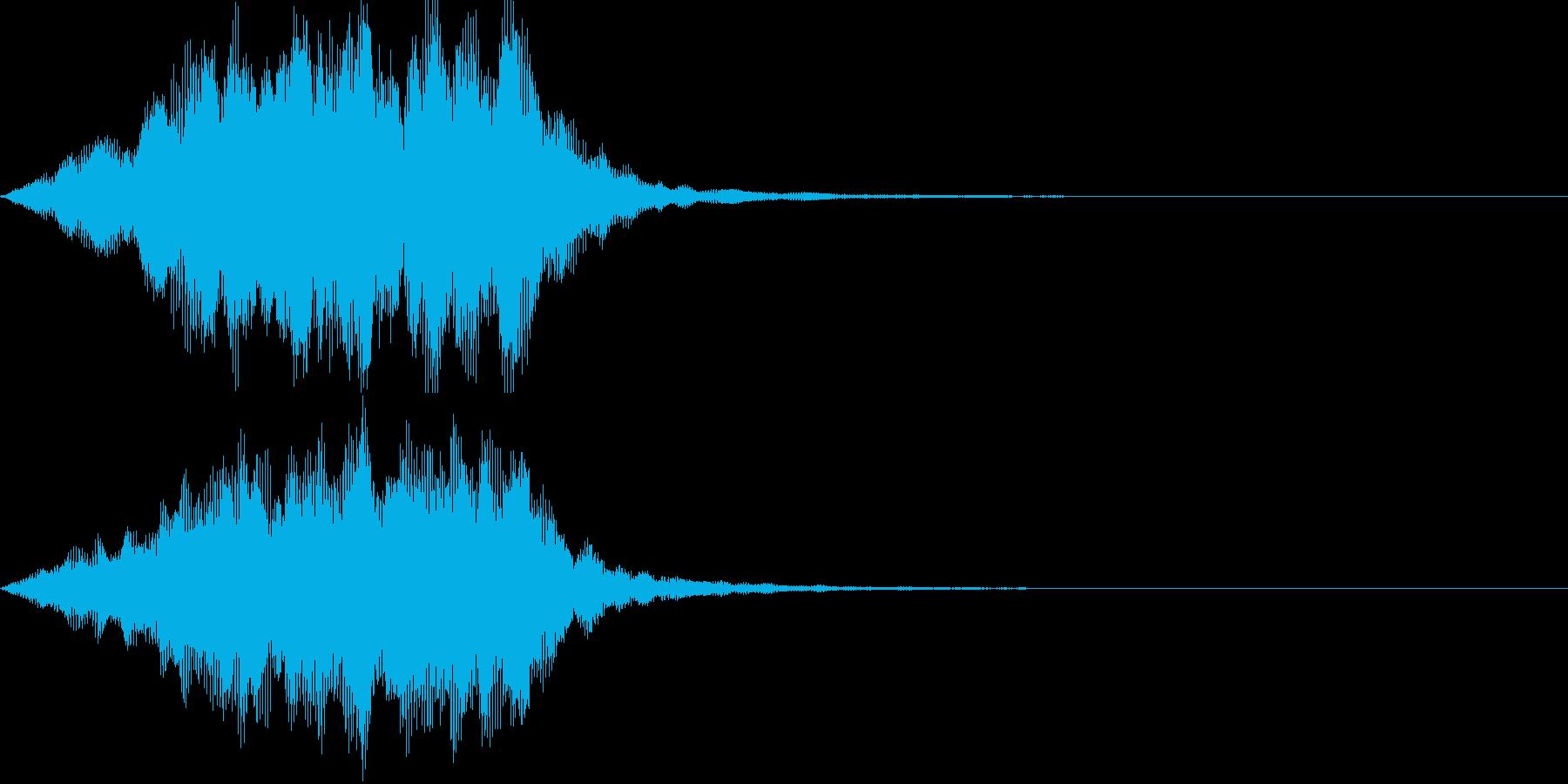 魔法(ヒール)01の再生済みの波形