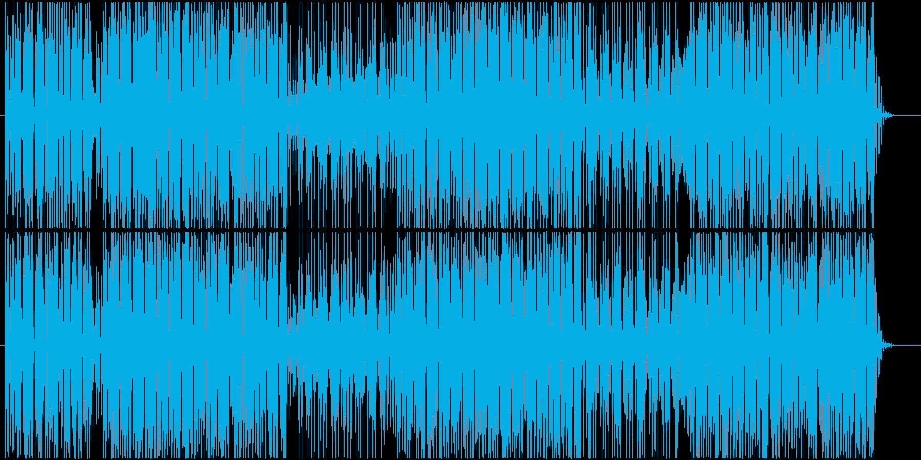 ファンキーなシンセベースが印象的なBGMの再生済みの波形
