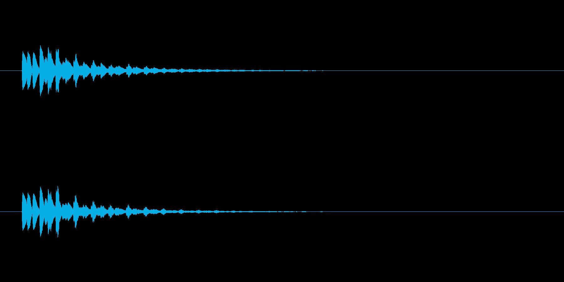 【ショートブリッジ17-2】の再生済みの波形