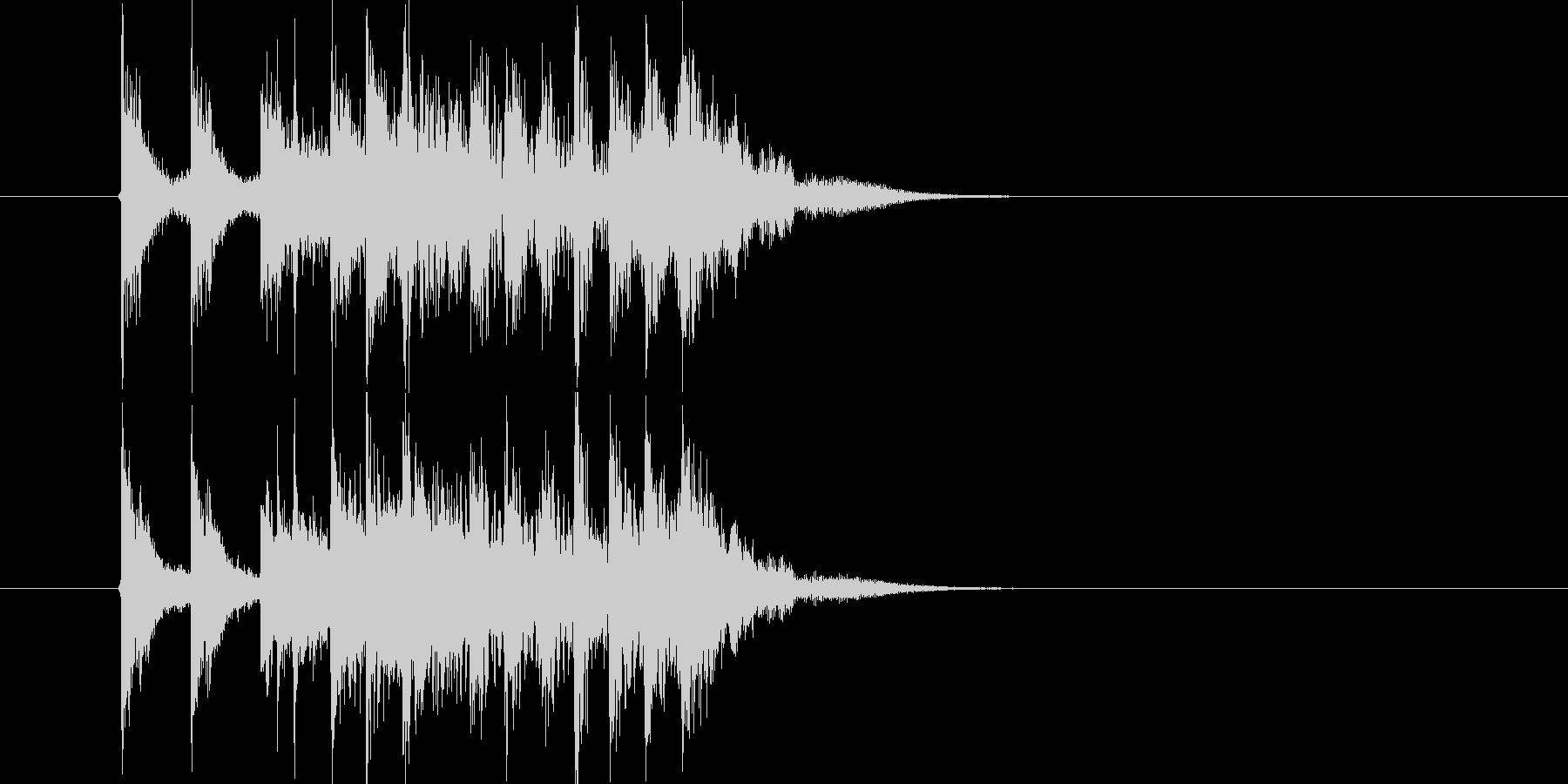 勢いがありリズミカルなドラムによるBGMの未再生の波形