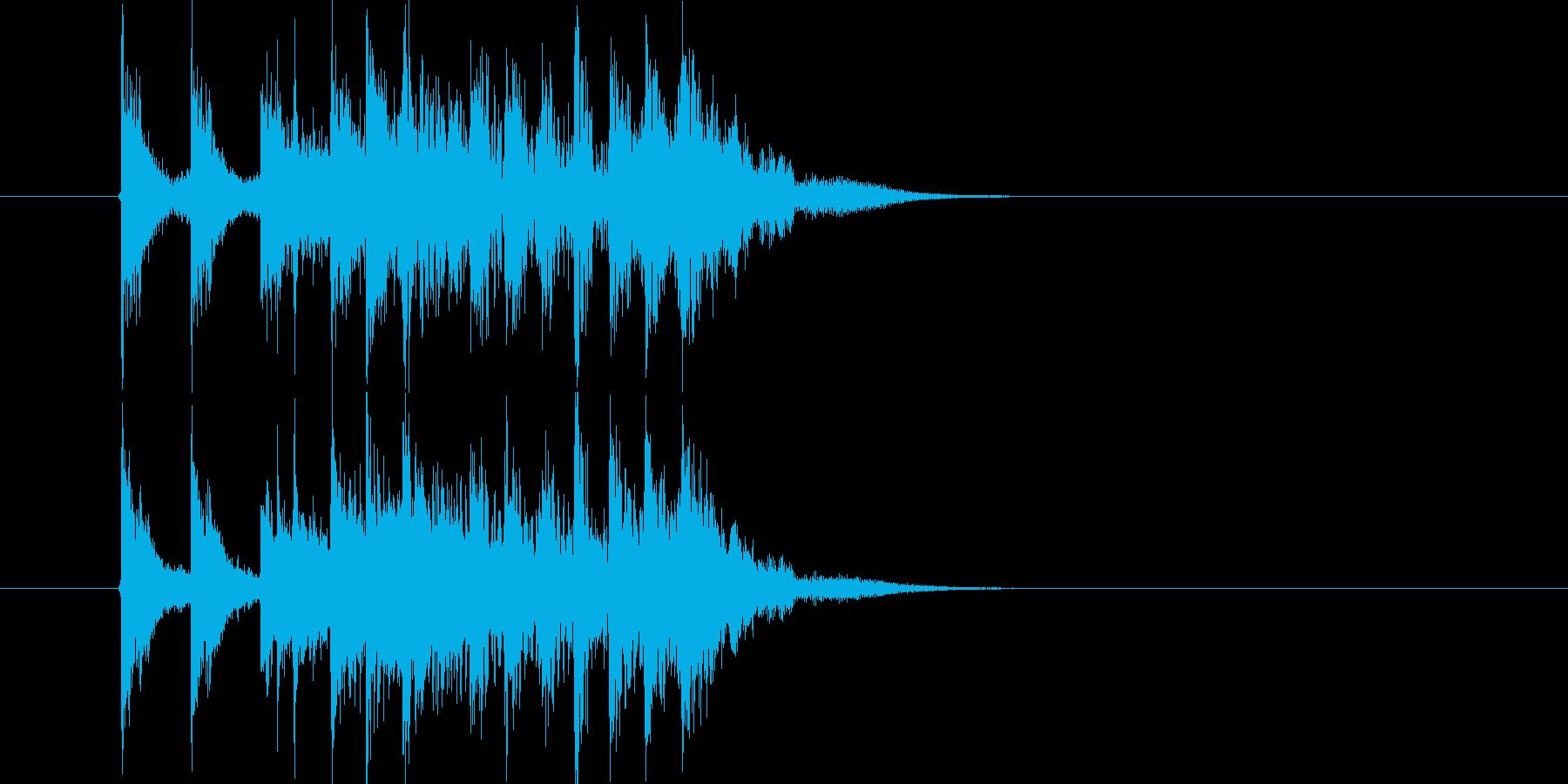 勢いがありリズミカルなドラムによるBGMの再生済みの波形
