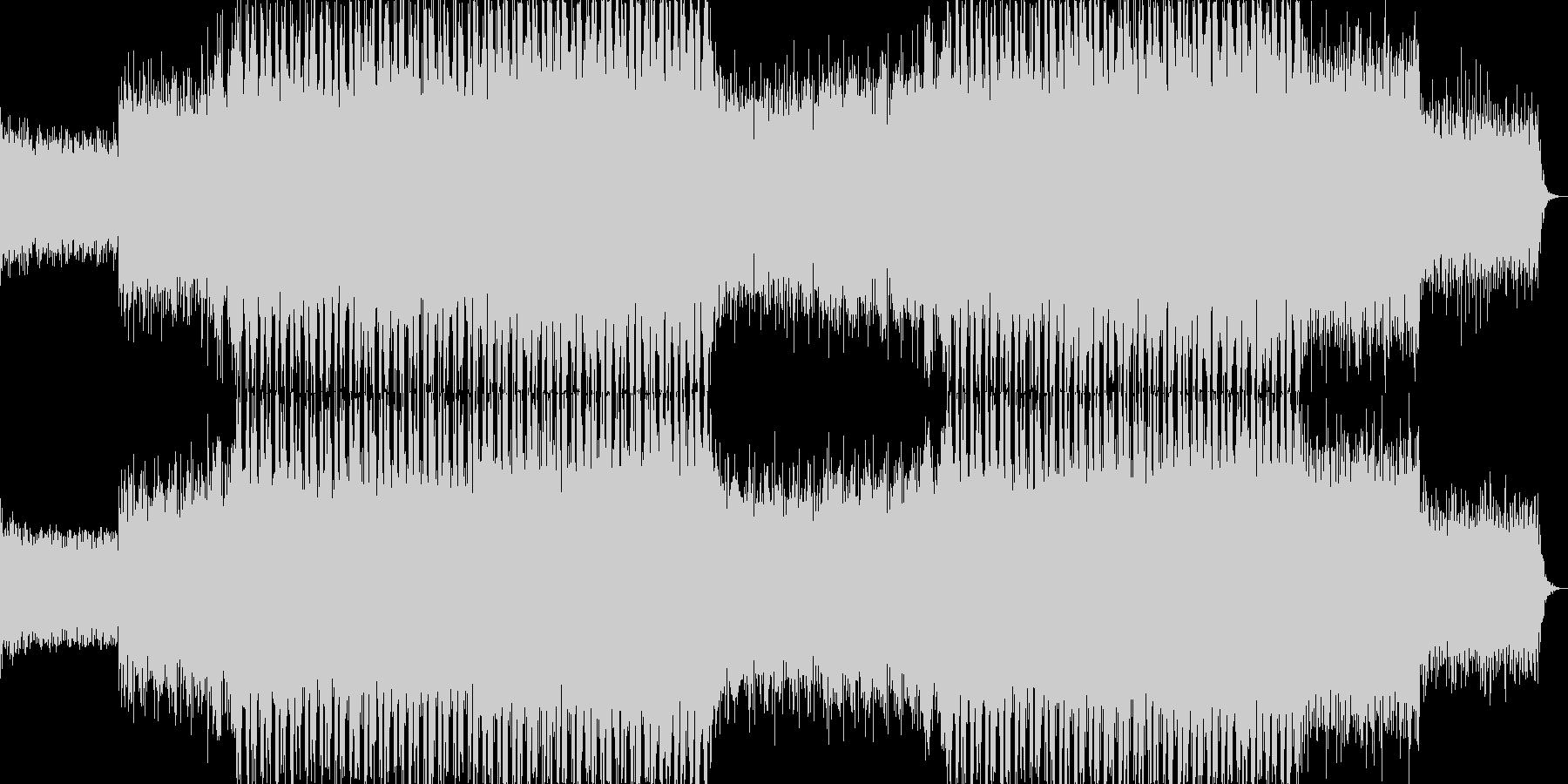 力強いリズムのテクノミュージック-02の未再生の波形