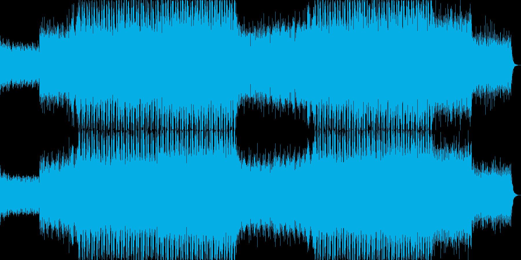 力強いリズムのテクノミュージック-02の再生済みの波形