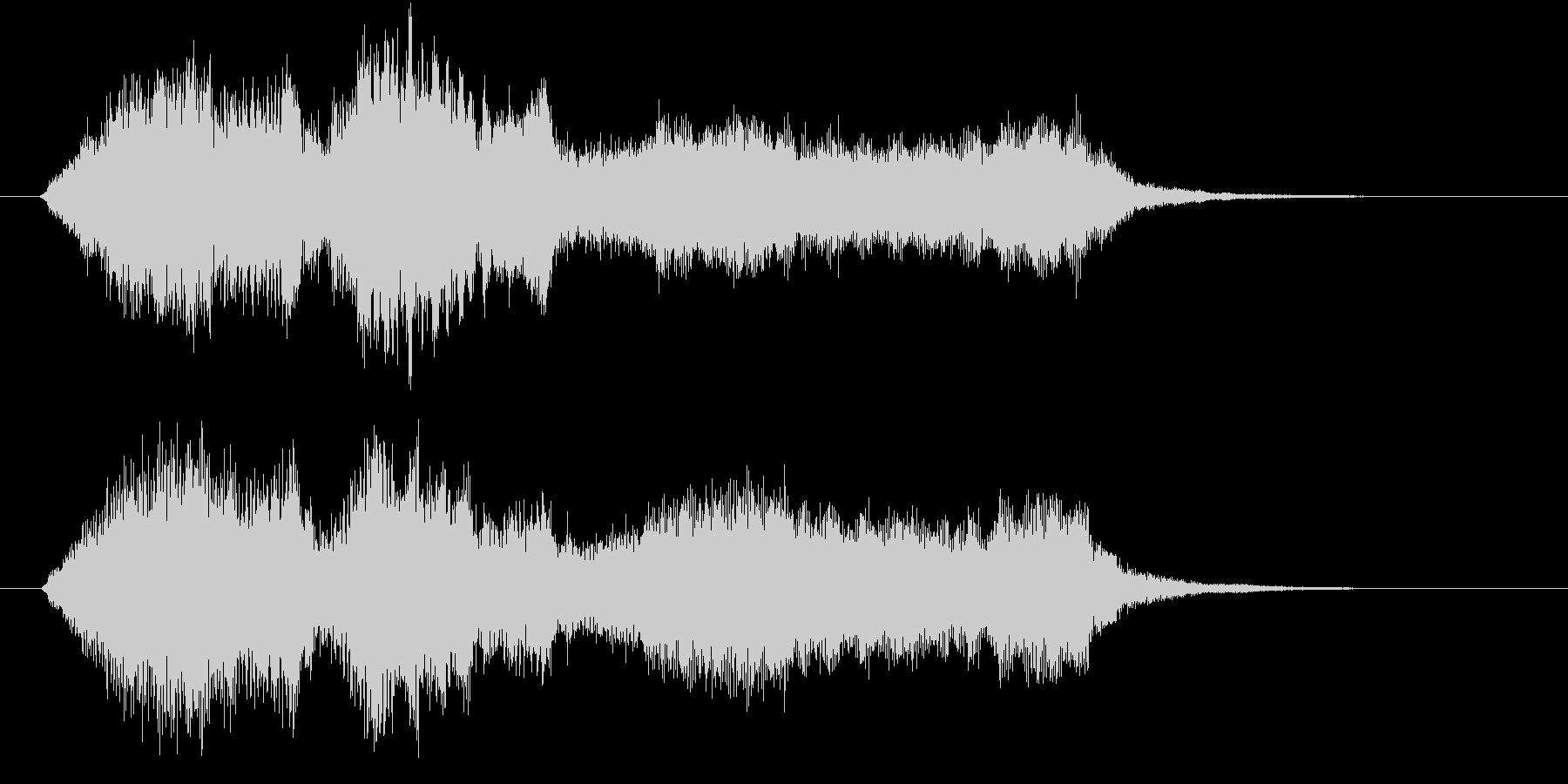 生演奏:やわらかい雰囲気の弦楽四重奏の未再生の波形