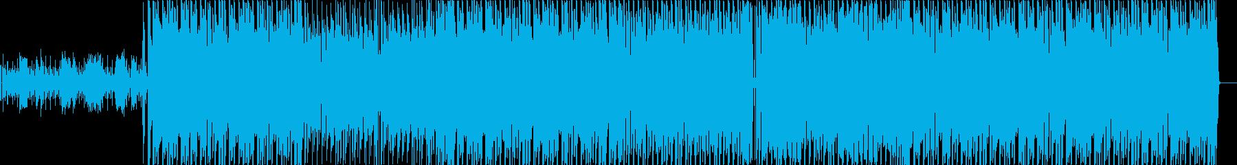 ブラックミュージック系ダンストラックの再生済みの波形