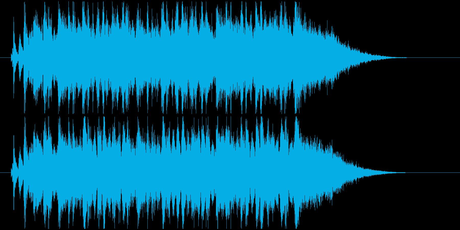 疾走感のあるバンドサウンドのジングルの再生済みの波形