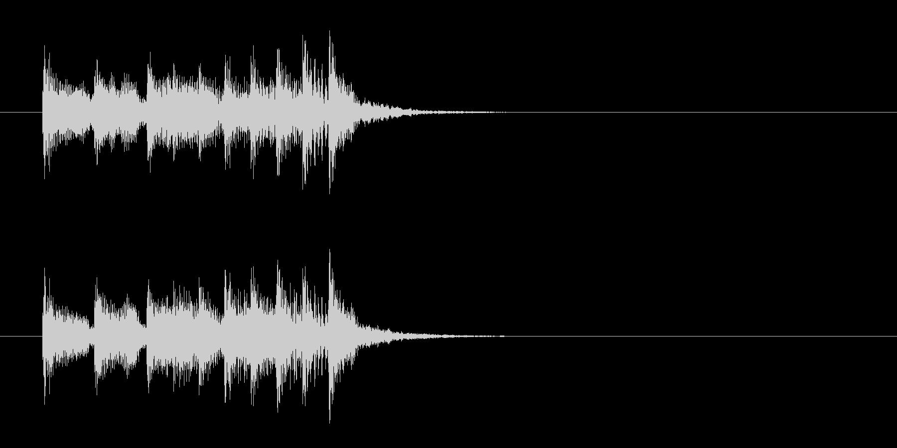 ジングル(チョッと一息とるポップス風)の未再生の波形