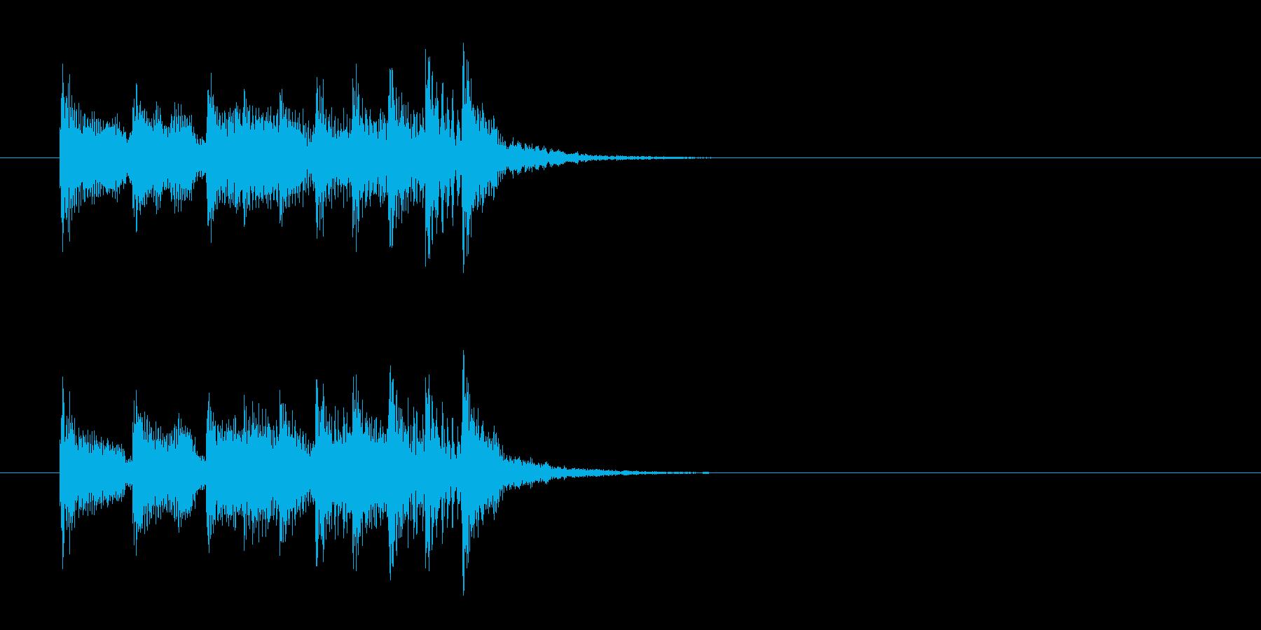 ジングル(チョッと一息とるポップス風)の再生済みの波形