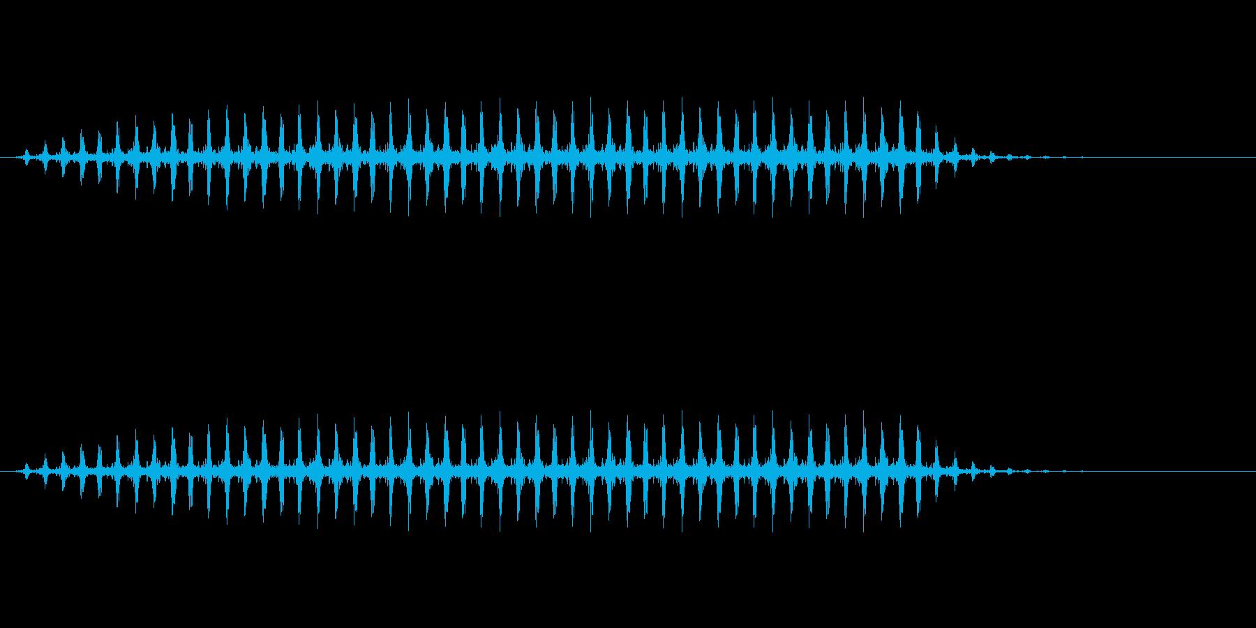 ヘリコプターの再生済みの波形