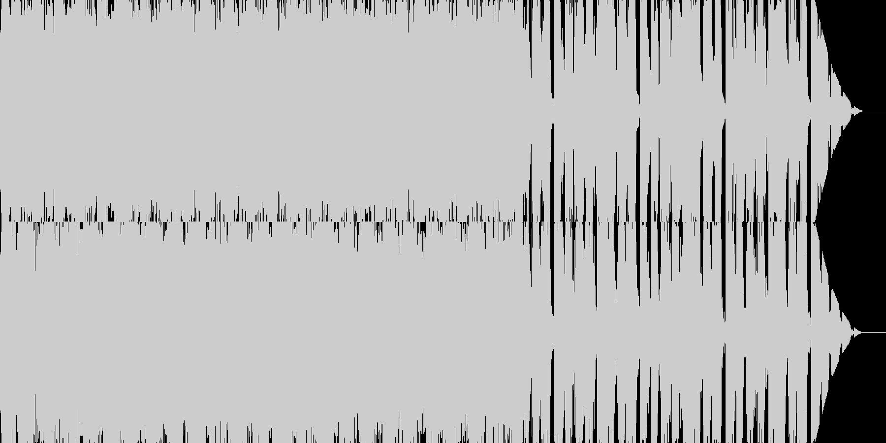 楽し気だけどせつないBGMの未再生の波形