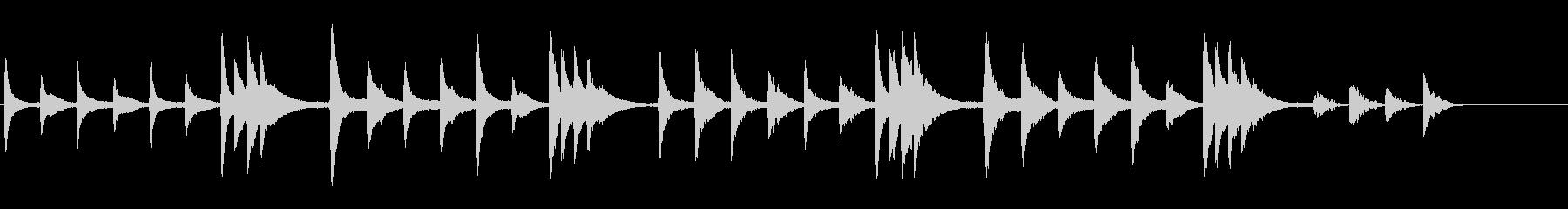 静寂なイメージピアノ曲の未再生の波形