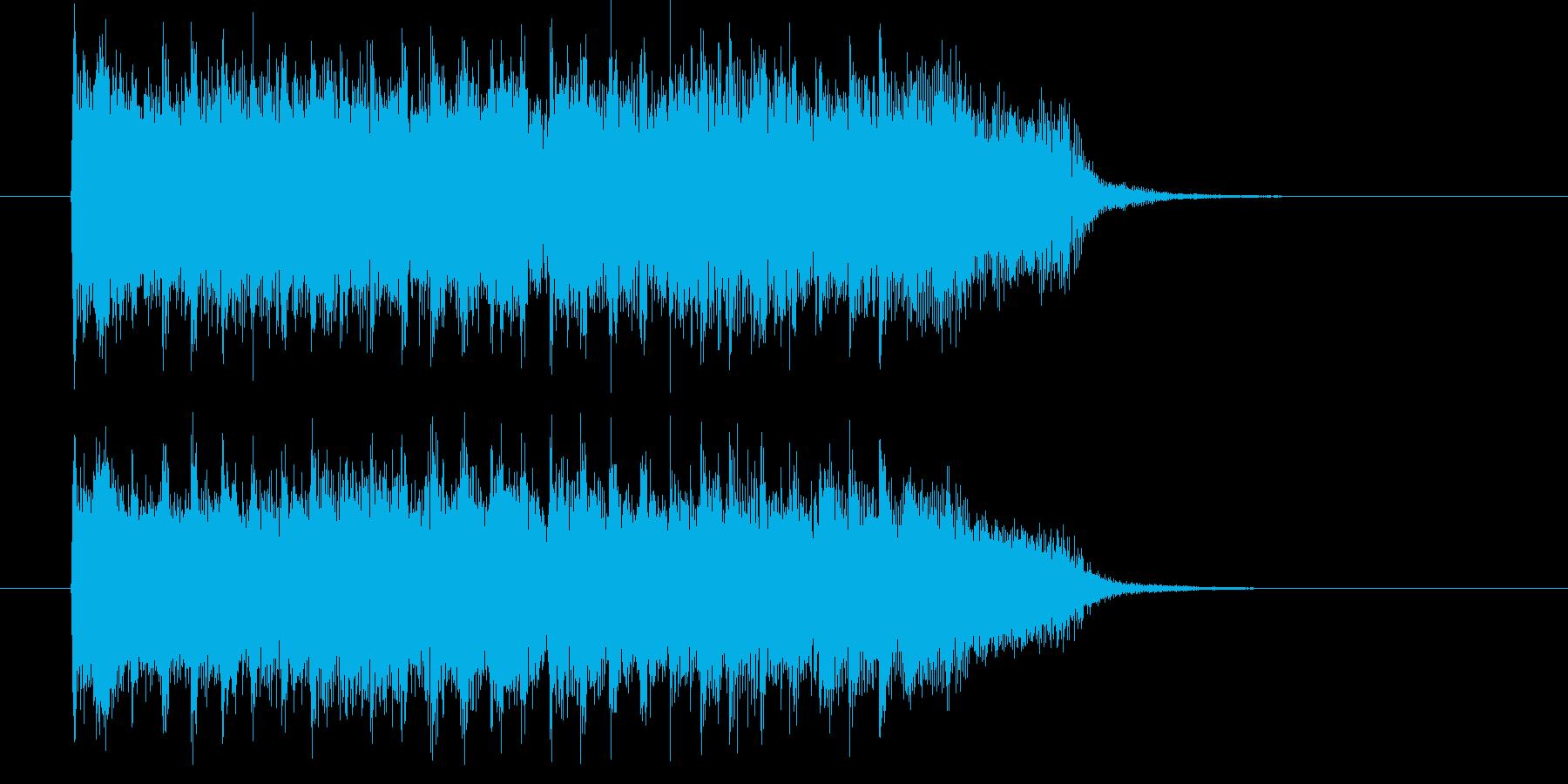イケイケのロックな10秒ジングルの再生済みの波形