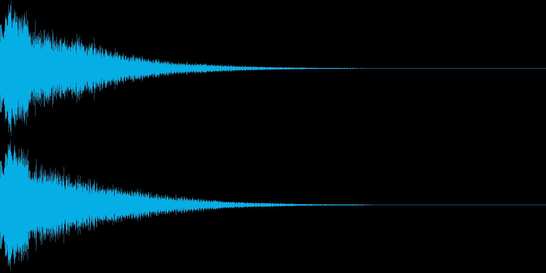 キュイン シャキン キラリン ピカンの再生済みの波形
