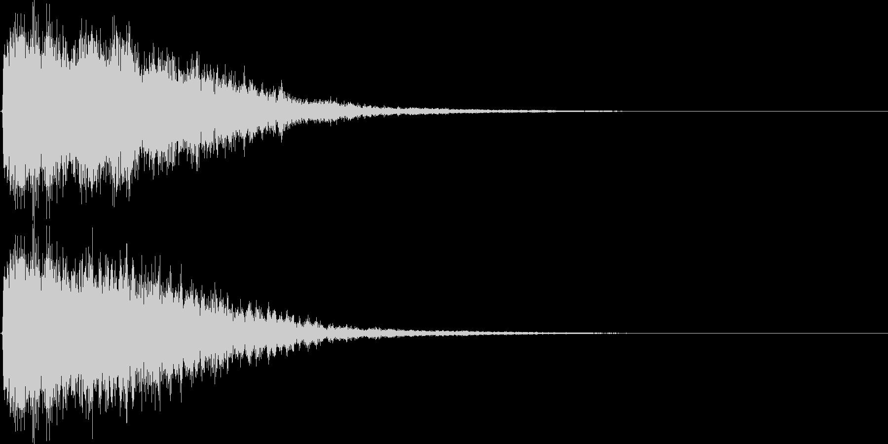 ジャーン(鐘、ゲーム、アプリ、起動音等)の未再生の波形