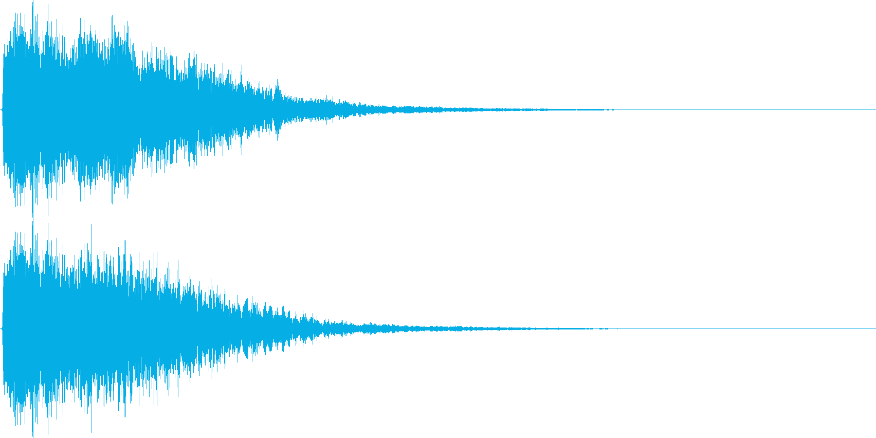 ジャーン(鐘、ゲーム、アプリ、起動音等)の再生済みの波形