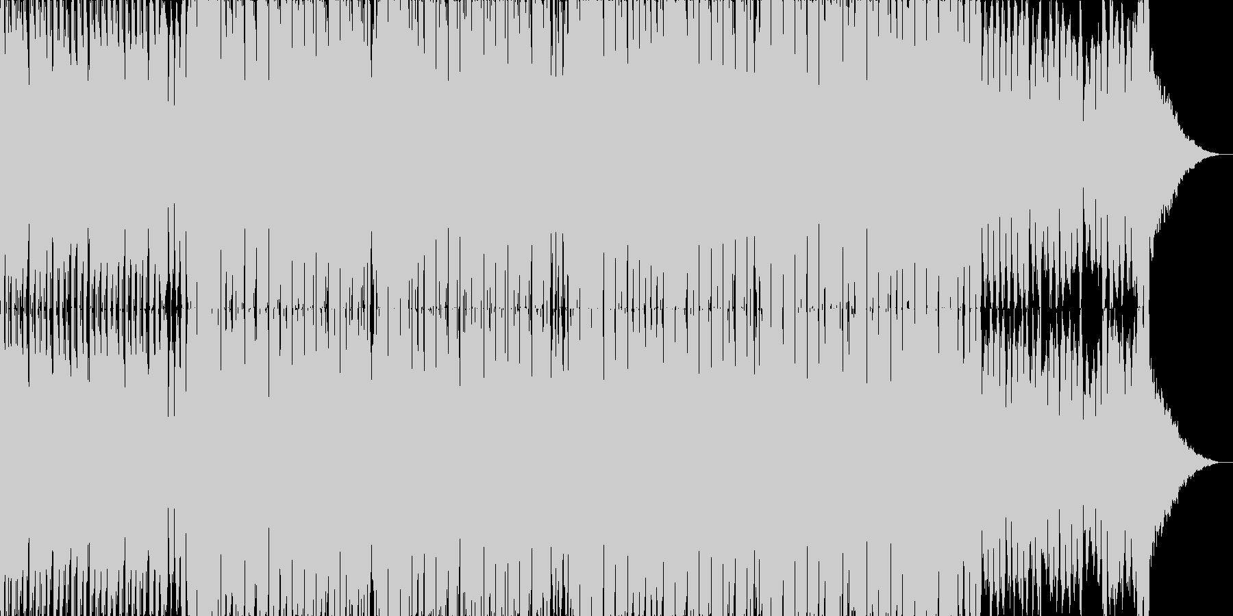軽快で明るめなテクノポップの未再生の波形