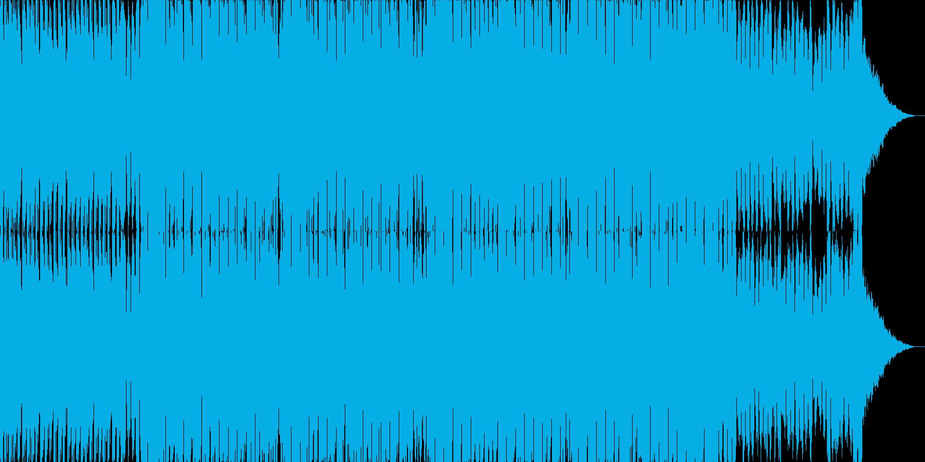 軽快で明るめなテクノポップの再生済みの波形