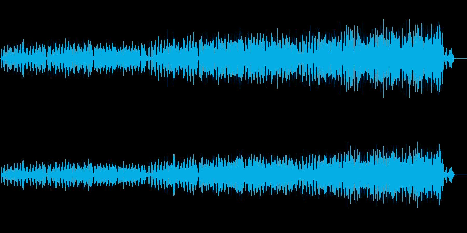 ユニークでコミカルなメロディーの再生済みの波形