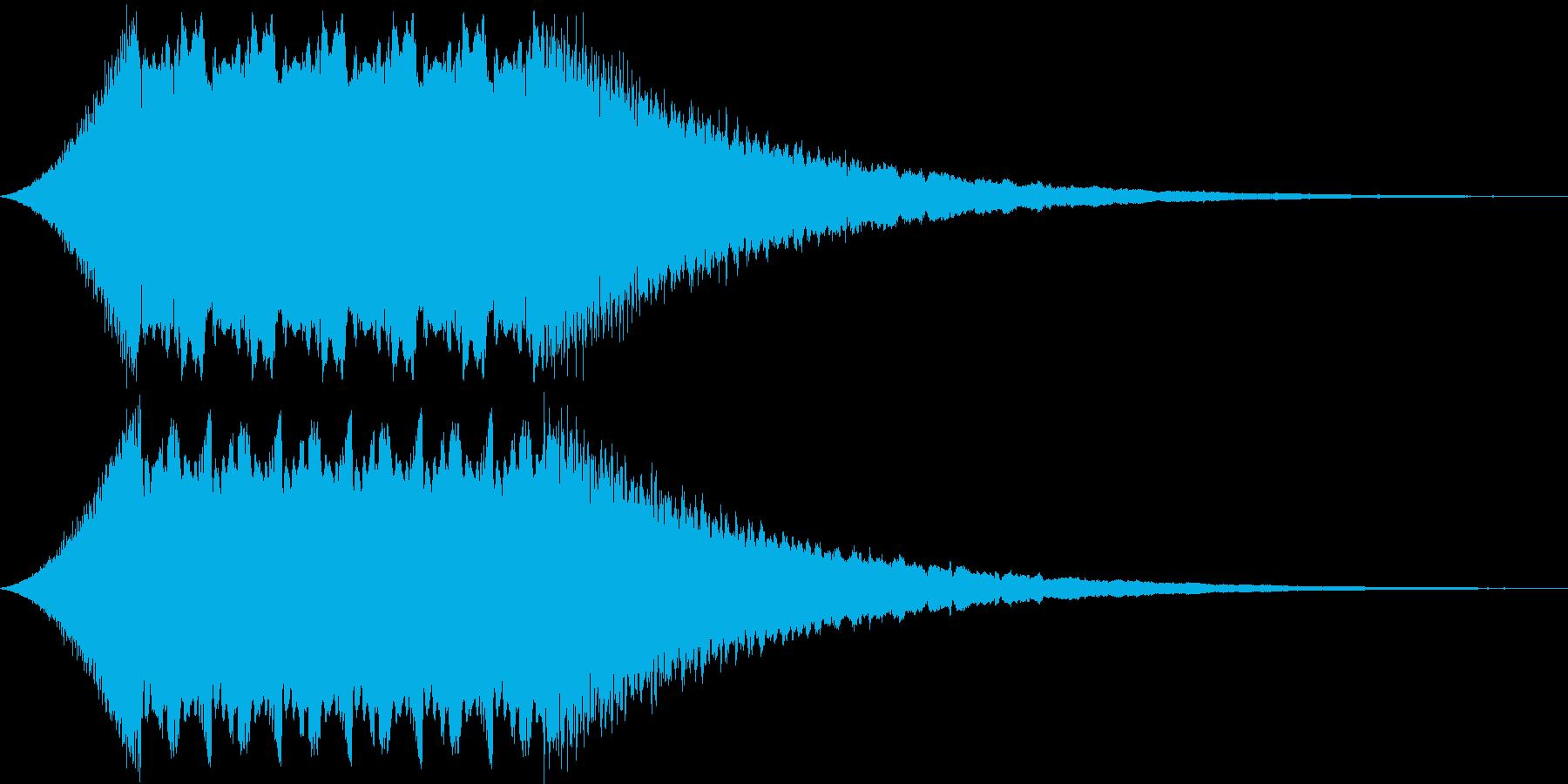 お昼のサイレン タイプAの再生済みの波形