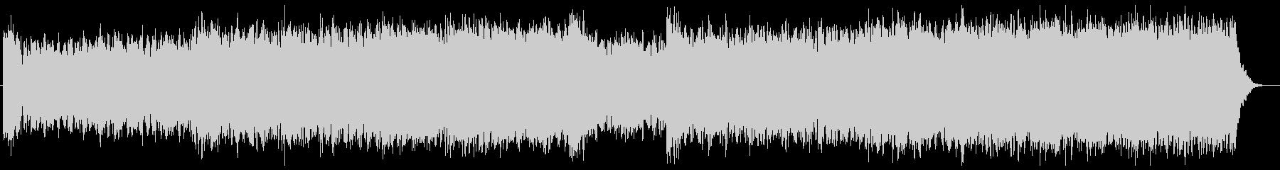 シンセとストリングスのサイバーな映像音楽の未再生の波形