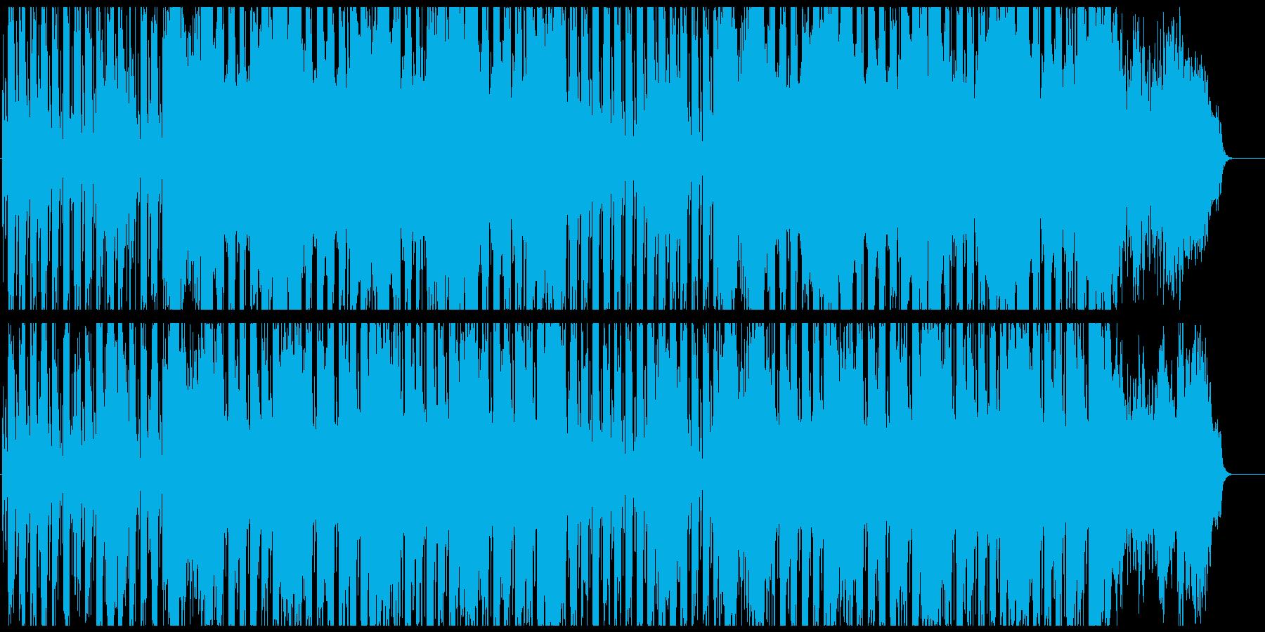 和楽器とシンセの和風楽曲の再生済みの波形