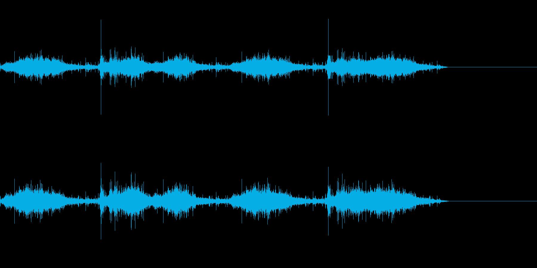 匍匐前進に(茂み系)の再生済みの波形