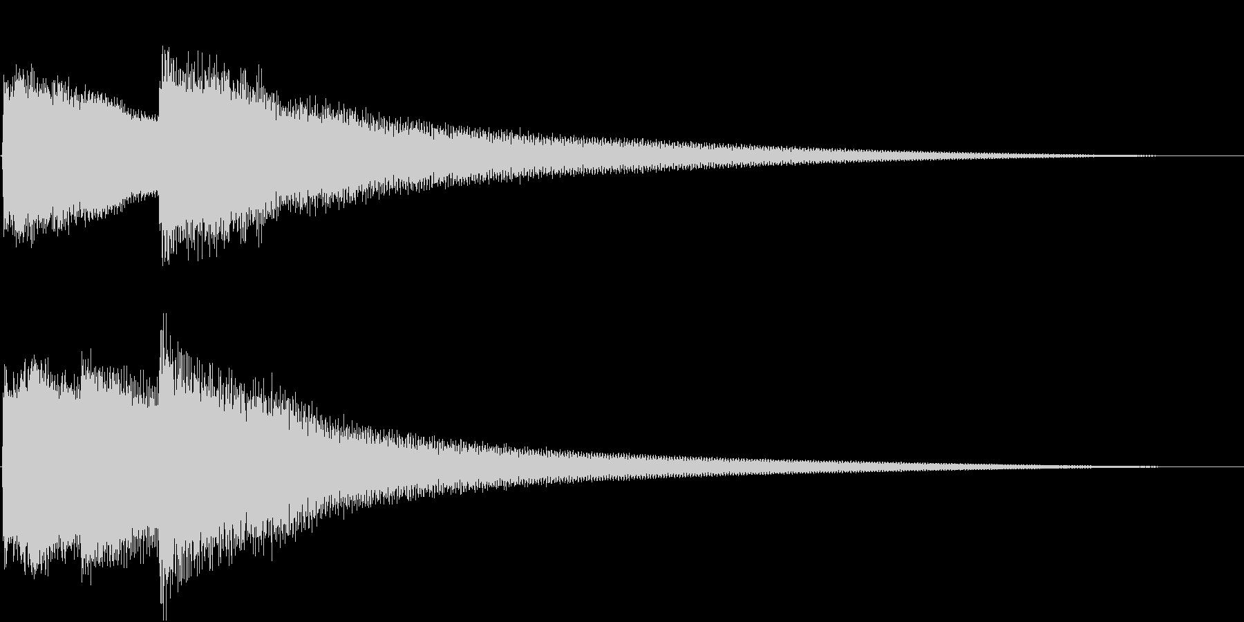 呼び鈴/呼び出し音/玄関チャイムSE2の未再生の波形