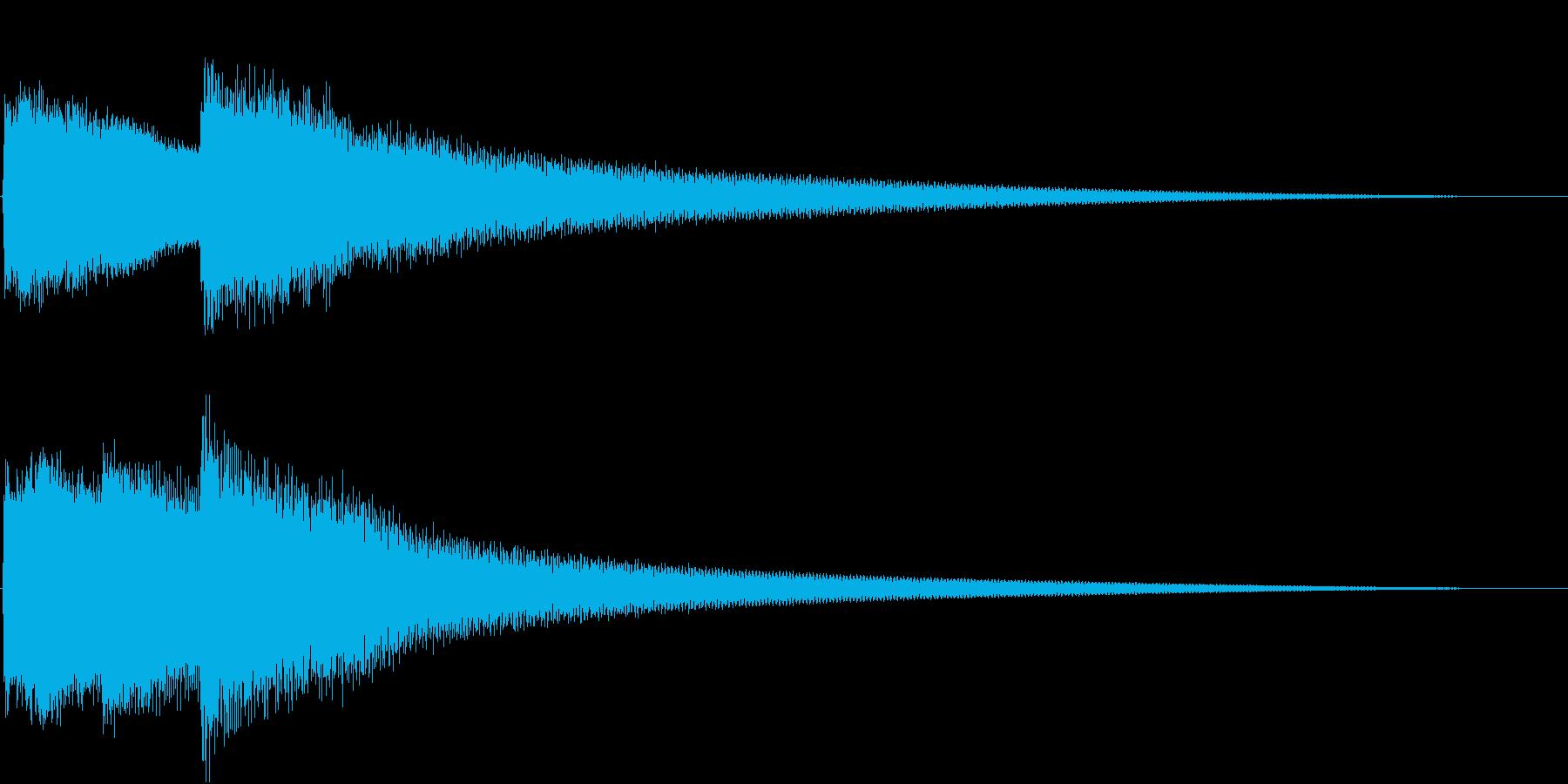 呼び鈴/呼び出し音/玄関チャイムSE2の再生済みの波形