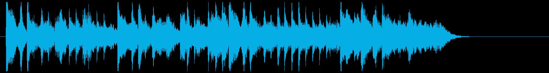 ラウンジサウンドのジングルの再生済みの波形