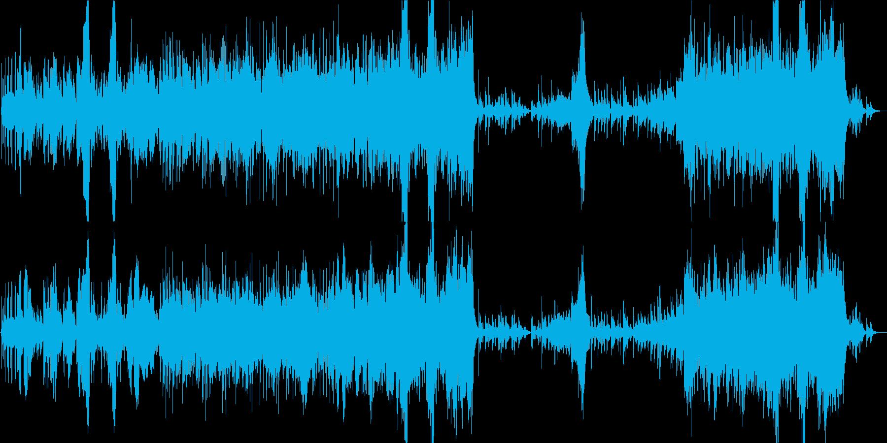 ほのぼのとした優しい曲の再生済みの波形