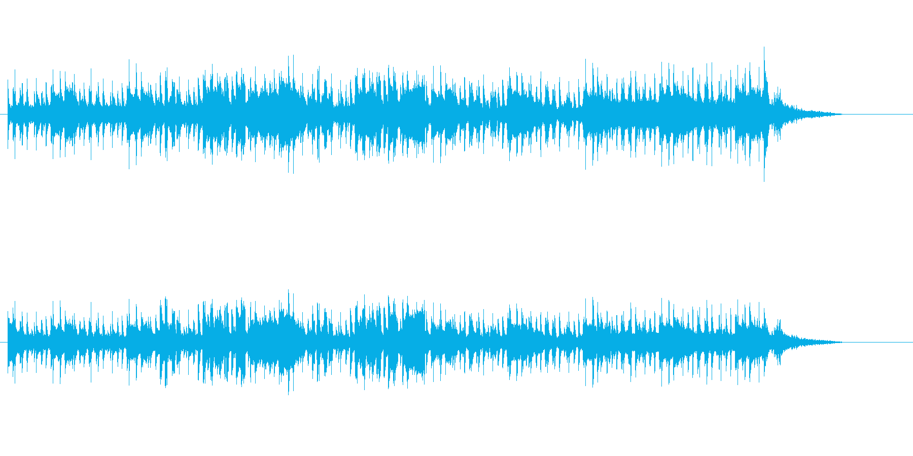 コマーシャルソング風コミカルサウンドの再生済みの波形