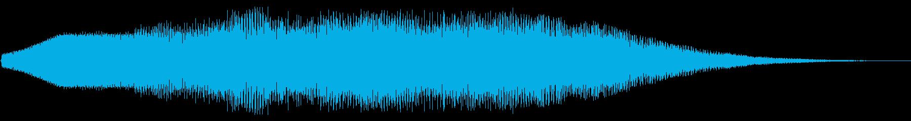 レトロゲーム風ジングルの再生済みの波形