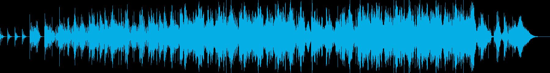 パーカッシブで緊張感のあるエレクトロニカの再生済みの波形