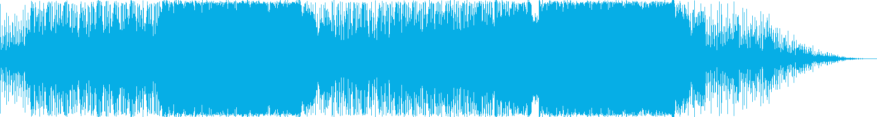 暗く禍々しい戦闘用BGMの再生済みの波形
