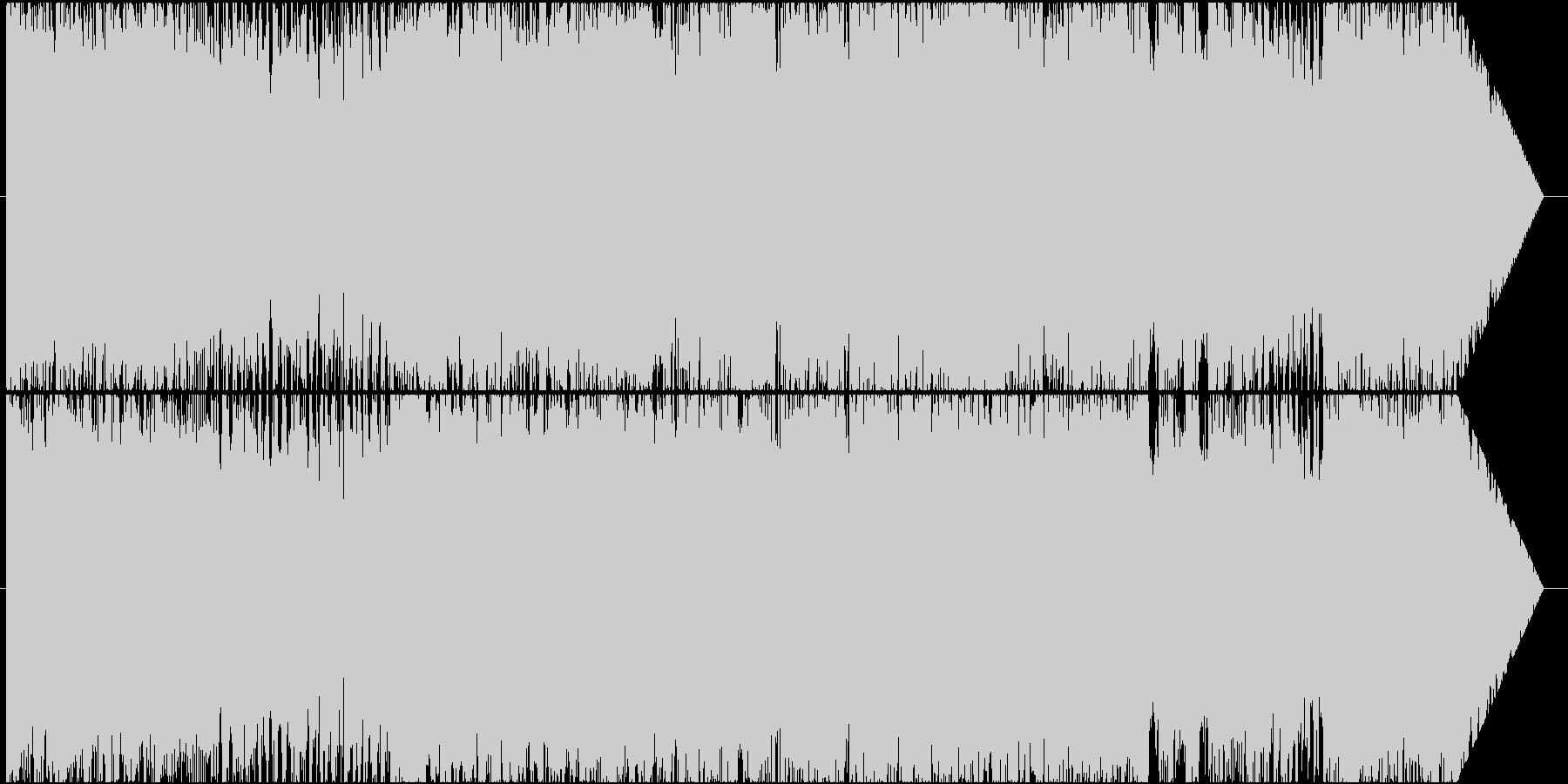 ロック調のラスボスバトル曲の未再生の波形