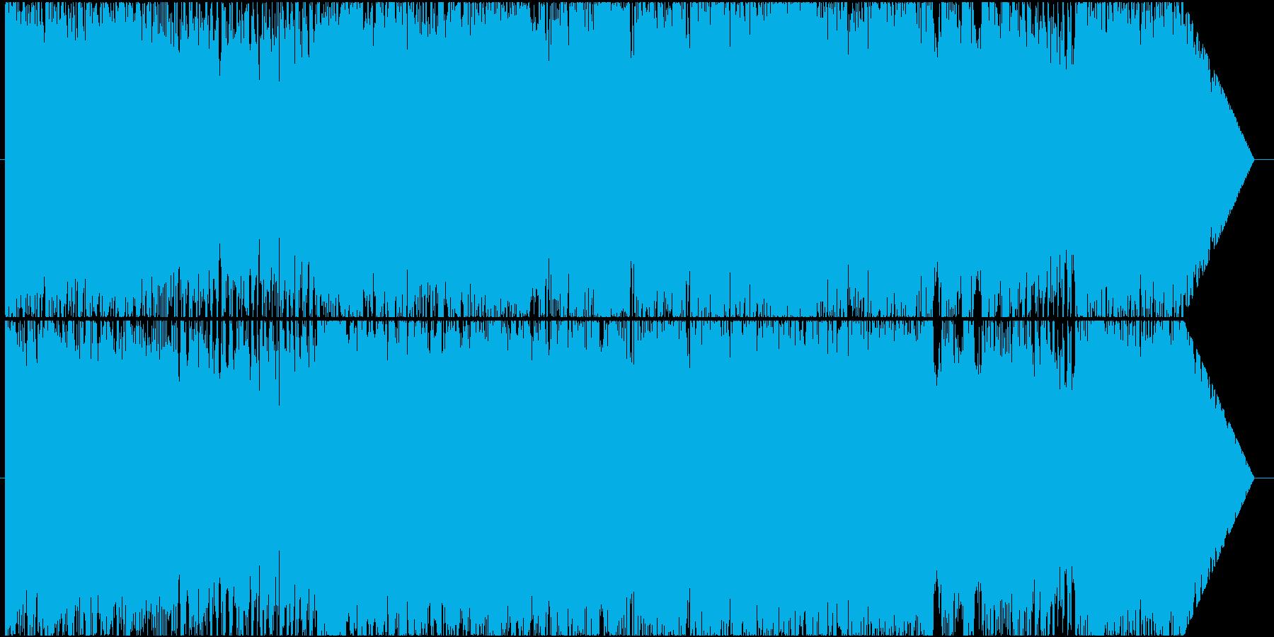 ロック調のラスボスバトル曲の再生済みの波形