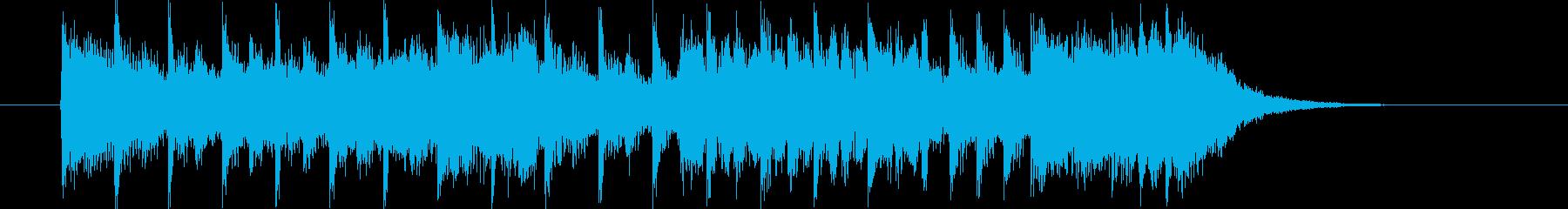 ハイスピードな疾走感溢れるポップスの再生済みの波形