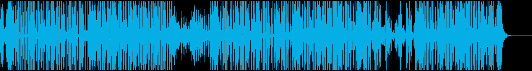 宇宙的な雰囲気のスーペースファンクの再生済みの波形