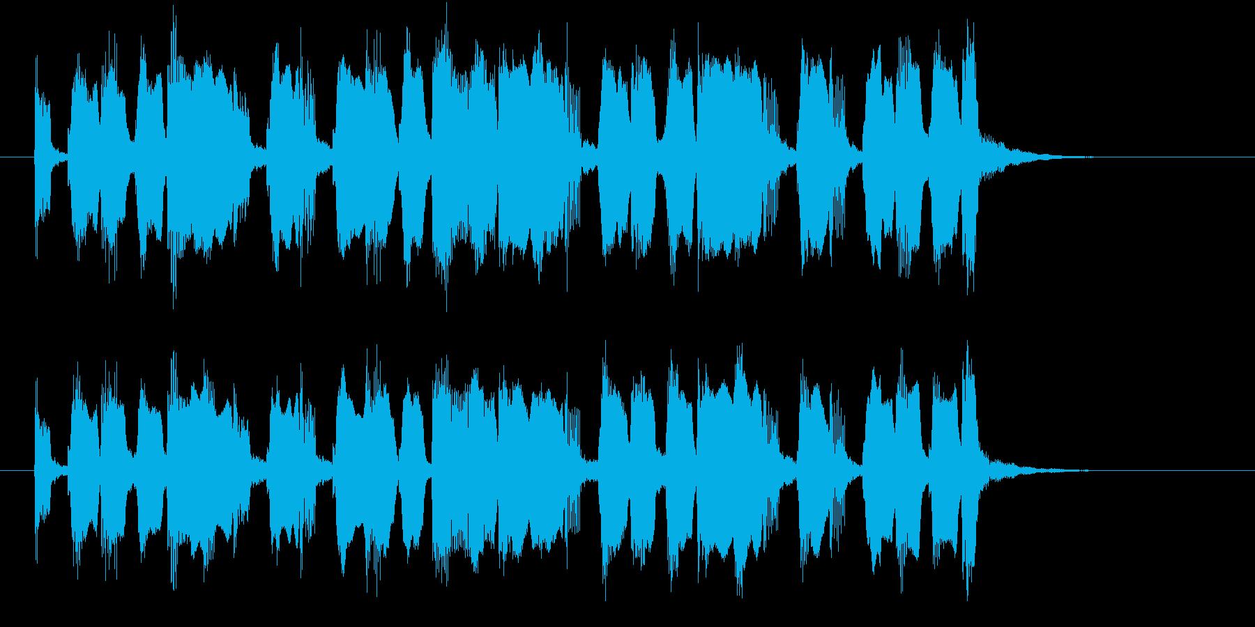 ほっこりするリラクゼーションミュージックの再生済みの波形