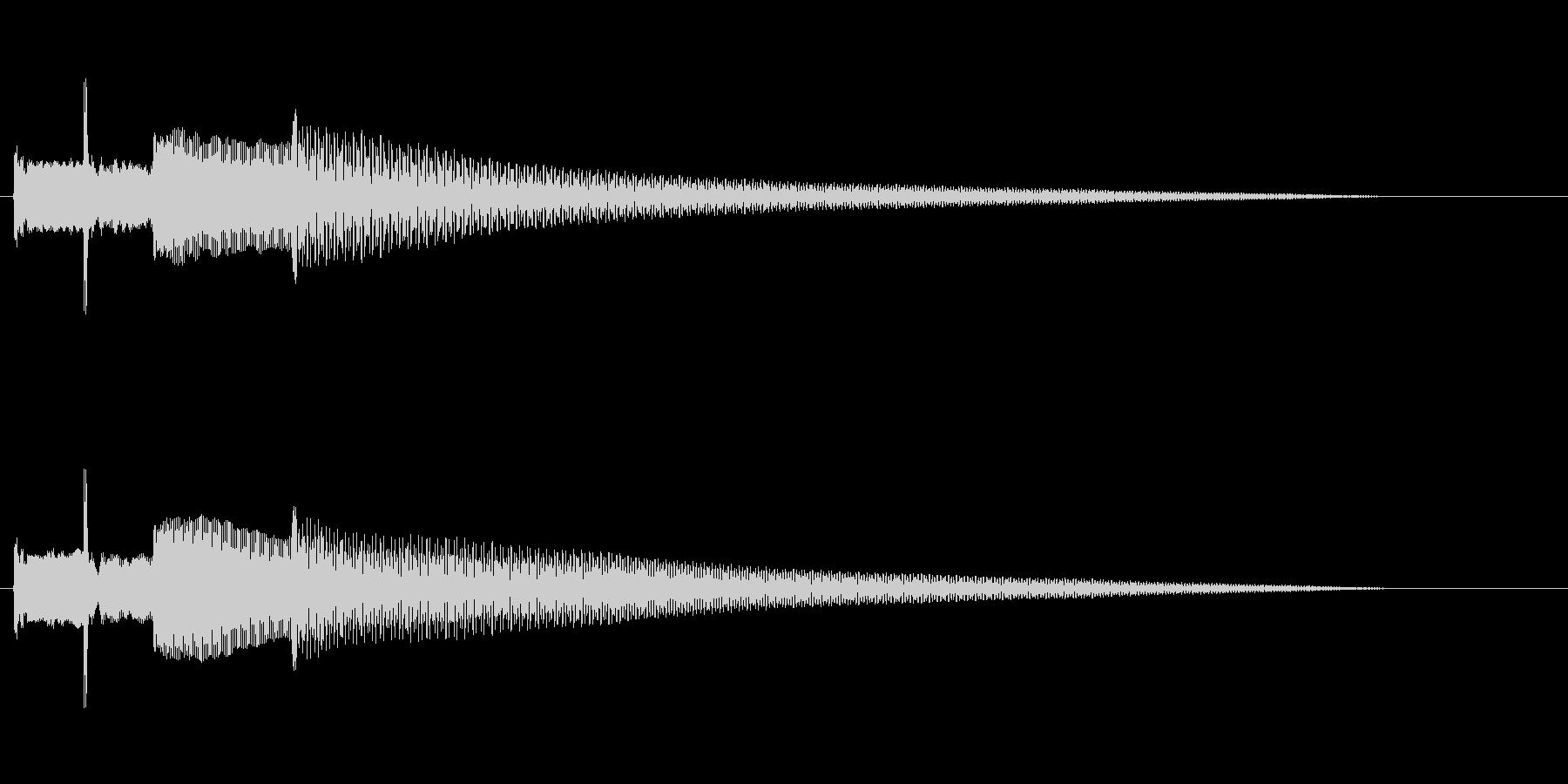 ちょっとだけ凝ったチャイム(オルゴール)の未再生の波形
