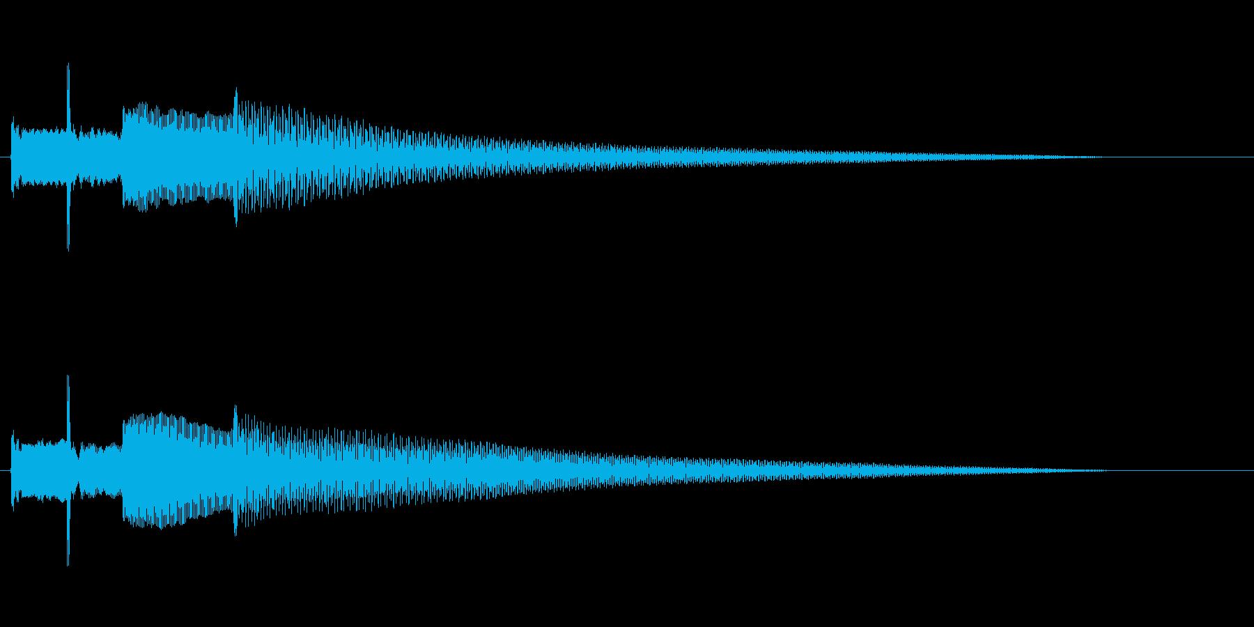ちょっとだけ凝ったチャイム(オルゴール)の再生済みの波形