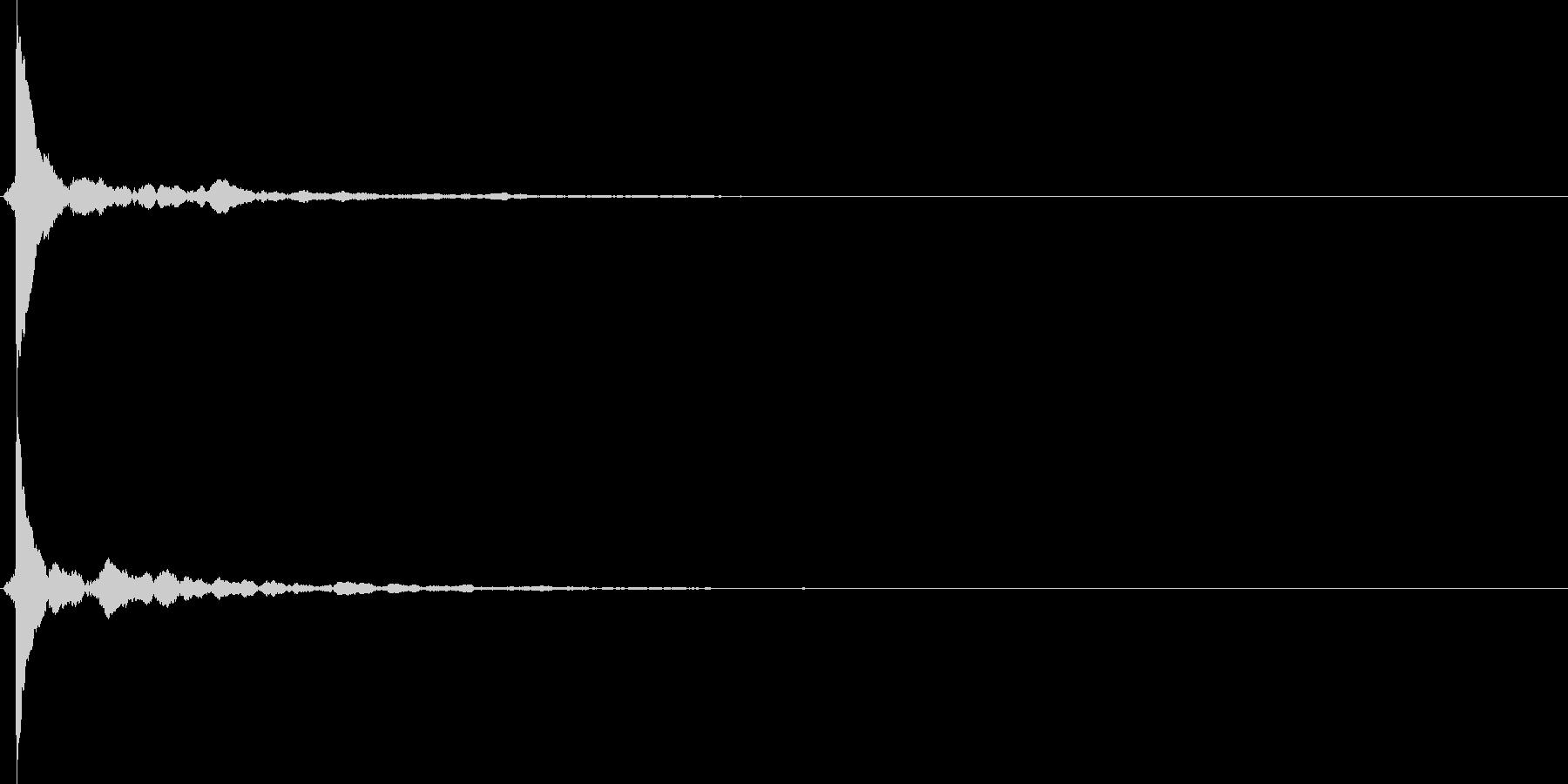 カン!(ウッドブロック系)の未再生の波形