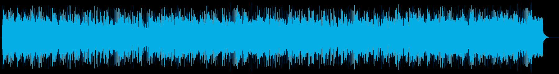 シンセサイザーを使った未来的な曲の再生済みの波形