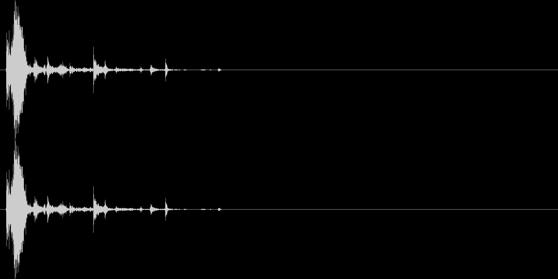 ガラス割れる音の未再生の波形