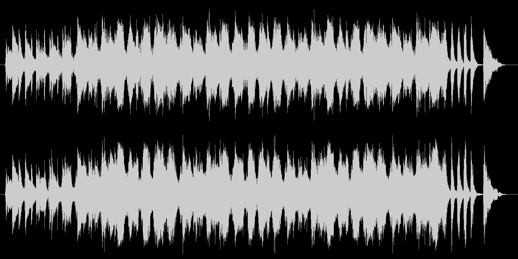 クールな商品紹介向けアコギBGMの未再生の波形