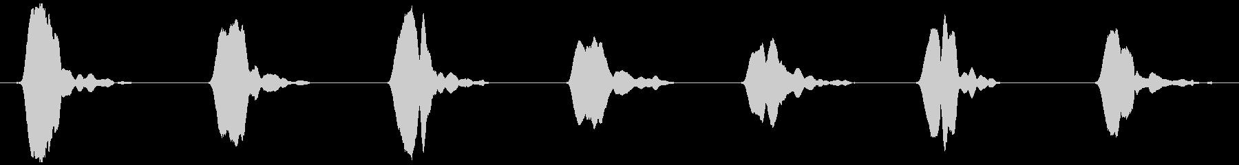 野鳥の、さえずりA  ヒッ×7の未再生の波形