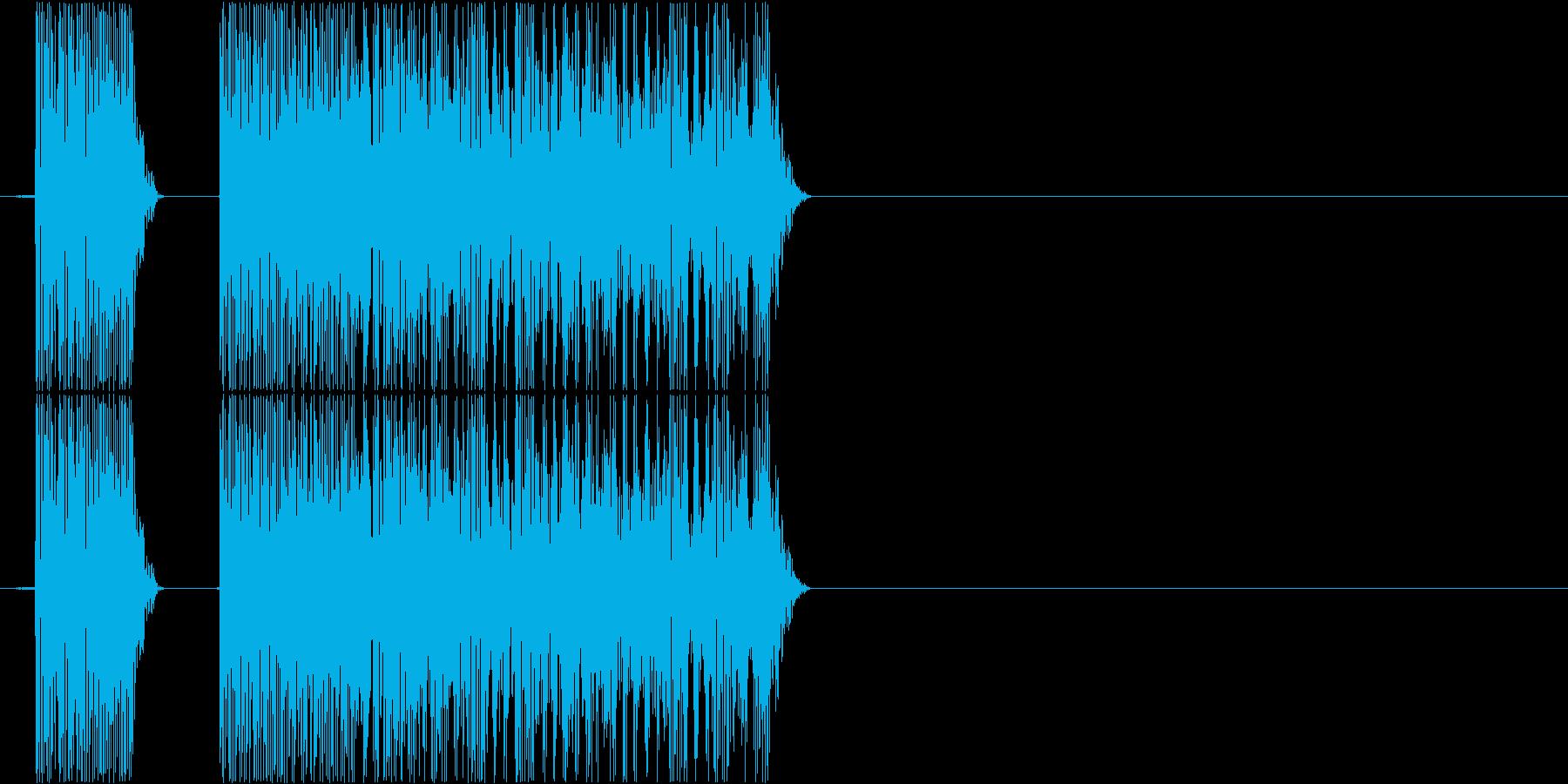 ブブー(PCやロボットのエラー、低い音)の再生済みの波形